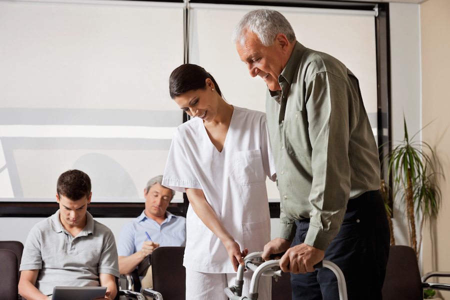 Picture of Physical Therapist Helping a Patient